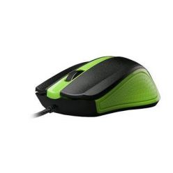 C-TECH WM-01, optická myš, 1200dpi, USB, zelená
