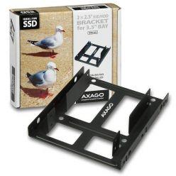 """Axago RHD-225, redukce pro 2x 2,5"""" HDD do 3,5"""" pozice"""