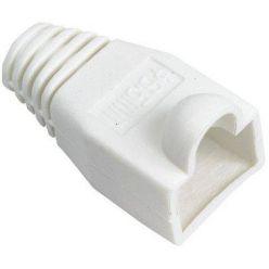 Krytka konektoru RJ45 na kulatý kabel, 1ks, bílá