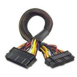 AKASA Napájecí prodlužovací kabel ATX 24pin na 20+4pin, 30cm,