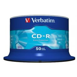 Verbatim CD-R ExtraProtection, 700MB, 52x, 50ks, spindle