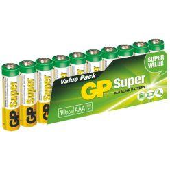 GP AAA Super, alkalická - 10 ks, fólie