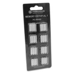 Primecooler PC-RHS5 HEATSINK, hliníkové chladiče na paměťové čipy, 8ks