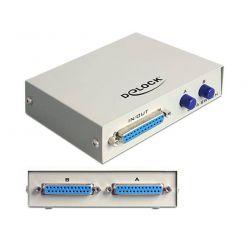 Delock Paralelní Switch, LPT 25 pinů, 2-portový, manuální