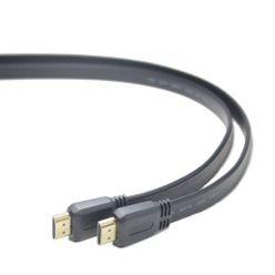 PremiumCord plochý HDMI 1.4 kabel, 1m, zlacené konektory