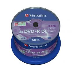 Verbatim DVD+R DL Matt Silver, 8.5GB, 8x, 50ks spindle
