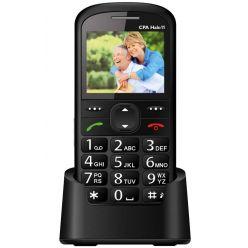 """CPA mobilní telefon pro seniory HALO 11/ 2,4"""" barevný display/ SOS tlačítko/ vestavěná svítilna/ FM rádio/ černý"""
