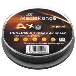 MEDIARANGE DVD+RW 4.7GB, 4x, 10ks, spindle