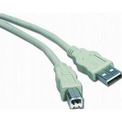 PremiumCord propojovací USB A-B kabel, 5m, šedý