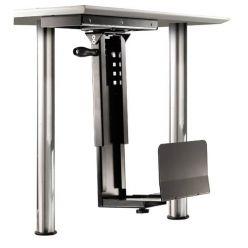 Držák PC pod desku stolu, možnost otočení, černý, 30kg