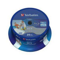Verbatim BD-R Wide Printable, 25GB, 6x, 25ks, spindle