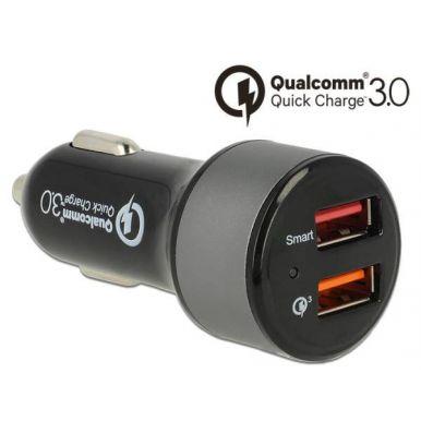 Navilock Autonabíječka, 2x USB, Qualcomm Quick Charge 3.0