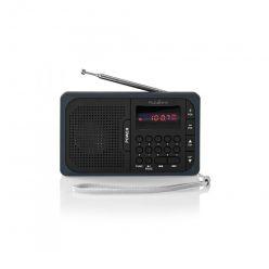 Nedis RDFM2100GY - FM Rádio | 3,6 W | Port USB a Slot na microSD kartu | Černá / Šedá