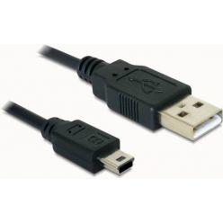 Delock kabel USB 2.0 A-samec > USB mini-B 5-pin samec, 1,5 metru