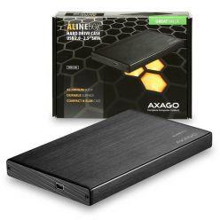 "AXAGO ALINEbox, externí box na 2.5"" SATA disk, USB 2.0, černý"