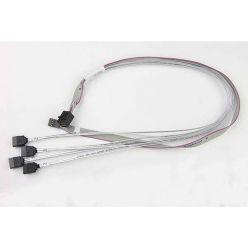 Supermicro kabel  SFF-8643 (SAS-HD) -> 4x SATA, revers, 55cm