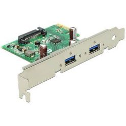 Delock USB 3.0 řadič, 2 externí porty, PCIe