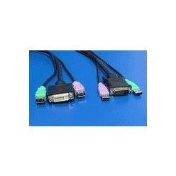 Prodlužovací kabel pro přepínač počítačů, 2x USB A(M) / DVI-D(M) - 2x USB A(F)/