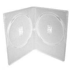 Plastový DVD box pro 2 DVD - 14mm, průhledný