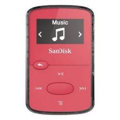 SanDisk Clip Jam 8GB, FM rádio, MP3, WMA, microSDHC, růžový