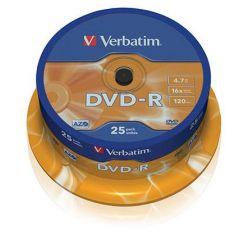 Verbatim DVD-R Matt Silver, 4.7GB, 16x, 25ks, spindle
