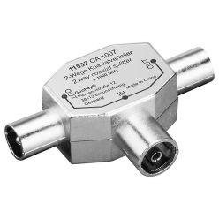 Anténní rozbočovač, IEC169-2, 1xF->2xM, kovový