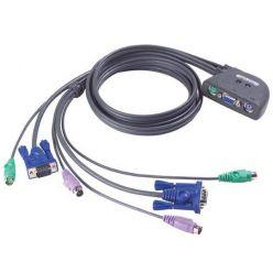 ATEN KVM switch CS-62Z PS/2 2PC mini vč. kabeláže 1,2m