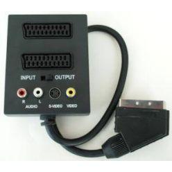 PremiumCord Adapter SCART/M-2xSCART+3xCINCH+SV