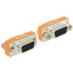 Delock adaptér Null Modem Sub-D 9 pin samice / samice