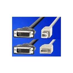 """Kabel pro přepínač počítačů, USB A(M) / DVI - USB B(M) / DVI, """"star"""", 4.5m"""