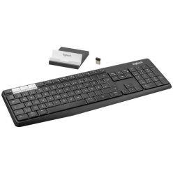 Logitech klávesnice K375s + stojan na mobil/tablet, CZ, černá