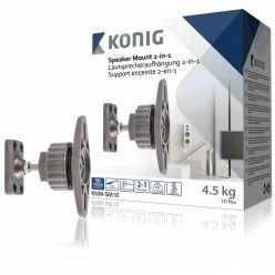 König KNM-SM10 - Držák reproduktoru 2v1, nosnost 4,5kg, 2ks