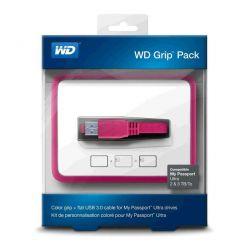 WD Grip Picasso, ochranný rámeček pro My Passport Ultra 2TB a 3TB, růžový