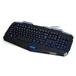 Crono CK2110, herní podsvícená klávesnice, USB, CZ, černá