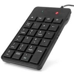 C-TECH KBN-01, numerická klávesnice, 23 kláves, USB, slim, černá
