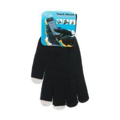 Rukavice pro dotykové displeje - pánské, černé