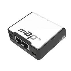 MikroTik RBmAP2n, RouterOS L4, 2xLAN, plast. krabice, napájecí adaptér
