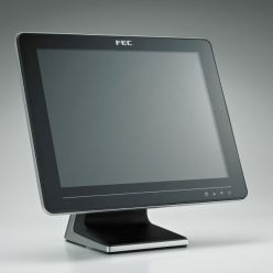 """Dotykový monitor FEC AM-1015C, 15"""" LED LCD, PCAP (10-Touch), USB, bez rámečku, černo-stříbrný"""