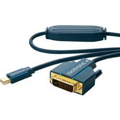 Clicktronic mini DisplayPort - DVI kabel, miniDP(M) -> DVI-D(M), 5m