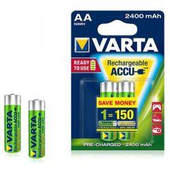 Varta AA Ni-Mh nabíjecí baterie, 2400mAh, přednabité, 4ks