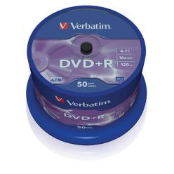 Verbatim DVD+R Matt Silver, 4.7GB, 16x, 50ks, spindle