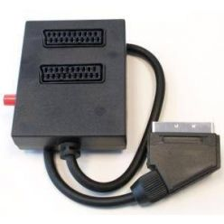 PremiumCord Přepínač SCART/M 0,5m kabel-2xSCART/F