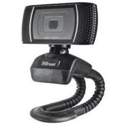Trust Trino HD, webkamera, 720p, vestavěný mikrofon, černá