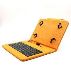 """C-TECH PROTECT pouzdro univerzální s klávesnicí pro 7""""-7,85"""" tablety, FlexGrip, NUTKC-01, oranžové"""