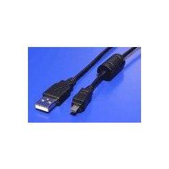 USB 2.0 kabel, typ A -> mini USB KODAK U8, 1.8m, černý