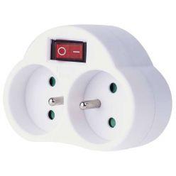 Emos zásuvka rozbočovací 2x kulatá s vypínačem