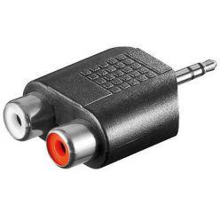 PremiumCord Adaptér stereojack 3.5 - 2x cinch M/F