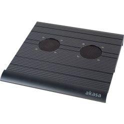 """AKASA AK-NBC-01B, chladící podložka pro 15"""" notebook, 2x USB, černá"""