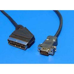 Kabel VGA MD15HD -> Scart(M), 2m