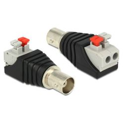 Delock Adapter BNC female > Terminal Block with push button 2 pin